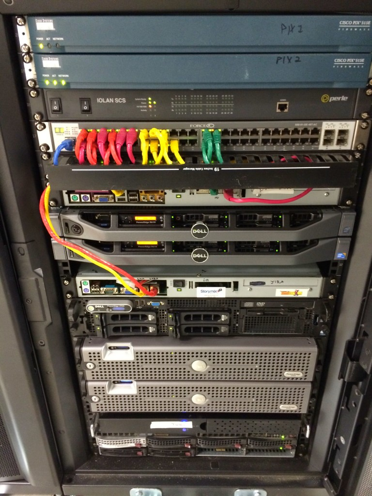 Typical half-cabinet deployment at a data center