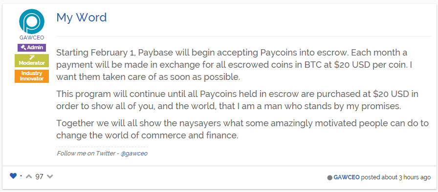 $20 paycoin will take 91 years