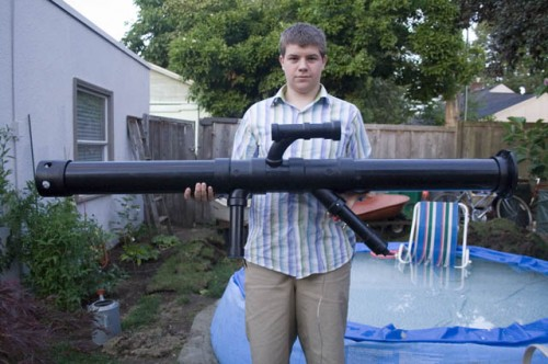 Home made PVC rocket launcher