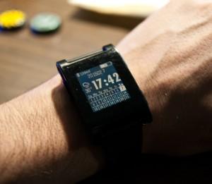 Pebble smart watch calendar face