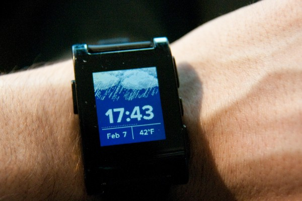 Pebble Smartwatch weather watch face