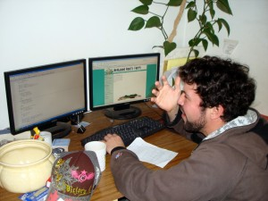 Sprux software engineer and dear friend bangs out a website for a local organic farm in Humboldt County