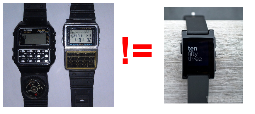 Pebble is not a calculator watch